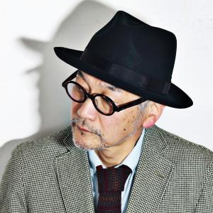 クリスティーズ ハット CHEAPSTOW CHRISTYS' LONDON フェルトハット メンズ 中折れハット 帽子 黒 ブラック|elehelm-hatstore