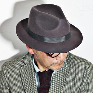 クリスティーズ ハット CHEAPSTOW CHRISTYS' LONDON フェルトハット メンズ 中折れハット 帽子 グレー|elehelm-hatstore