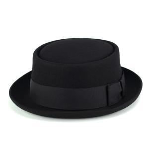 クリスティーズ ロンドン ポークパイ ハット 帽子 メンズ レディース CHRISTYS' LONDON Pork Pie 秋冬 帽子 黒 ブラック|elehelm-hatstore