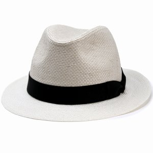 ダックス 中折れ ハット 帽子 メンズ DAKS 中折れ帽 ペーパー フラット ブレード BL型 サイズ調節 春夏 日本製 白 オフホワイト|elehelm-hatstore