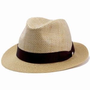 ダックス 中折れ ハット 帽子 メンズ DAKS 中折れ帽 ペーパー フラット ブレード BL型 サイズ調節 春夏 日本製 ベージュ|elehelm-hatstore