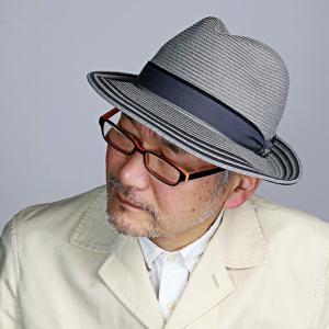 中折れ帽 ライン入り シルク 細番手 ブレード ダックス 中折れ ハット 帽子 メンズ DAKS サイズ調節 春夏 日本製 グレー|elehelm-hatstore