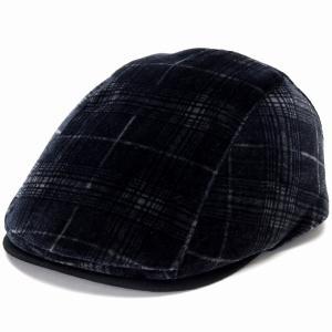 DAKS チェック ベルベット ハンチング エクセーヌ ヴィエラ 帽子 メンズ サイズ調節 ダックス Pontoglio Belvet  秋冬 日本製 黒 ブラック|elehelm-hatstore