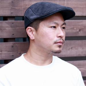 ハンチング メンズ 秋 冬 グレンチェック 帽子 ダックス 日本製 サミア 生地 DAKS ブランド 紺 ネイビー|elehelm-hatstore