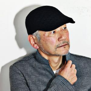 DAKS ニット ハンチング 帽子 メンズ レディース サイズ調節 ダックス ハンチングキャップ 秋冬 日本製 ハンチング帽 黒 ブラック|elehelm-hatstore