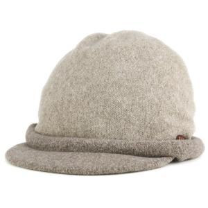 DAKS ダックス ツバ付き キャップ バスク 帽子 レディース 婦人 秋冬 日本製 ベージュ|elehelm-hatstore