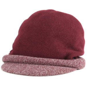 DAKS ダックス ツバ付き キャップ バスク 帽子 レディース 婦人 秋冬 日本製 ワイン|elehelm-hatstore