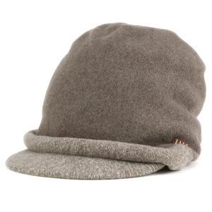DAKS ダックス ツバ付き キャップ バスク 帽子 レディース 婦人 秋冬 日本製 茶 ブラウン elehelm-hatstore