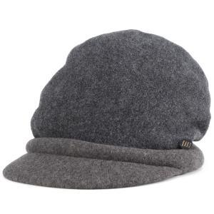 DAKS ダックス ツバ付き キャップ バスク 帽子 レディース 婦人 秋冬 日本製 チャコール elehelm-hatstore