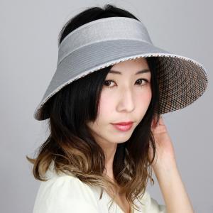 DAKS 日除け サンバイザー 広つば クルクルバイザー 先染 ドット柄 ジャガード レディース UV フリーサイズ  ダックス 日よけ 帽子 日本製 春夏 ブラック 黒|elehelm-hatstore
