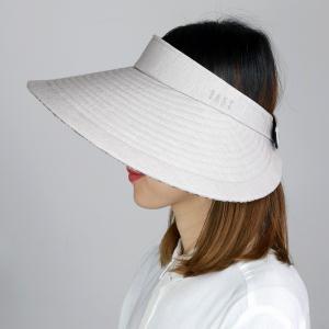 レディース 日除け サンバイザー UV フリーサイズ  ダックス クルクルバイザー DAKS 広つば 先染 ドット柄 ジャガード 日よけ 帽子 日本製 春夏 ブラウン 茶|elehelm-hatstore
