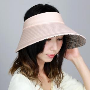 ダックス UV サンバイザー フリーサイズ クルクルバイザー レディース 日除け DAKS 広つば 先染 ドット柄 ジャガード 日よけ 帽子 日本製 春夏 オレンジ|elehelm-hatstore