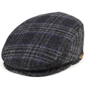 ハンチング dalena メンズ 帽子 ダレーナ イタリア ツイード モヘア混紡 チャコール系 elehelm-hatstore
