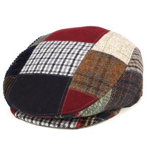 ハンチング 帽子 メンズ 秋冬ファッション パッチワーク イタリア製 dalena ダレーナ マルチパターン elehelm-hatstore