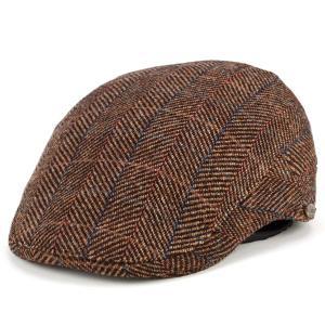 ツイード ハンチング 帽子 秋 冬 アイビーキャップ dalena イタリア製 お洒落 茶 ブラウン elehelm-hatstore