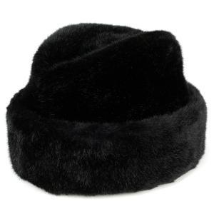 ファー 帽子 メンズ レディース 兼用 フェイクファー 秋冬 キャップ クロケット ロシア帽 防寒 コサック帽 dalena ダレーナ 黒 ブラック elehelm-hatstore