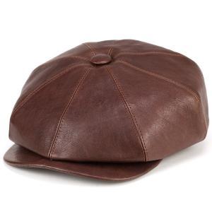 キャスケット レザー 帽子 メンズ 秋 冬 メンズ ダレーナ dalena イタリア ナッパレザー 高級 茶 ブラウン elehelm-hatstore
