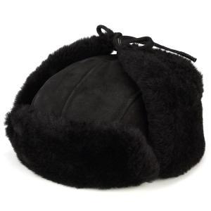 帽子 ロシア帽 ムートン 飛行帽 ウシャンカ 防寒 dalena ダレーナ 黒 ブラック elehelm-hatstore