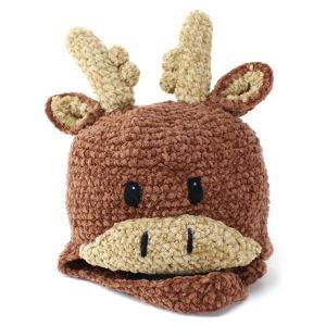 帽子 ニット帽 子供 動物 ニット サンディエゴハット キッズ ベビー 動物デザイン 柔らかモールニット ムース シカ|elehelm-hatstore