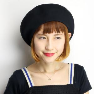 ベレー帽 春 夏 帽子 レディース 大きめゆったりシルエット 大きい サマーニット 通気性抜群 日本製 ブラック|elehelm-hatstore