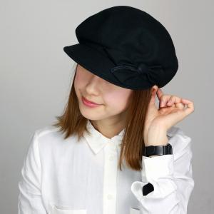 リボン 帽子 レディース かわいい キャスケット 春夏 UVカット 軽い つば付き 綿 麻 キャス 婦人 エリートシャポー サイズ調節可 ELITE CHAPEAU 黒 ブラック|elehelm-hatstore
