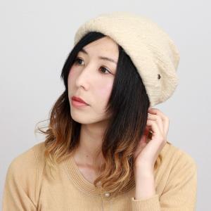 エリートシャポー アクロスキー ターバン 帽子 上品 シンプル ワンポイント レディース 秋冬 ELITE CHAPEAU ベージュ|elehelm-hatstore