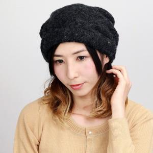 エリートシャポー アクロスキー ターバン 帽子 上品 シンプル ワンポイント レディース 秋冬 ELITE CHAPEAU 黒 ブラック|elehelm-hatstore