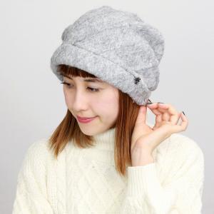 エリートシャポー アクロスキー ターバン 帽子 上品 シンプル ワンポイント レディース 秋冬 ELITE CHAPEAU グレー|elehelm-hatstore