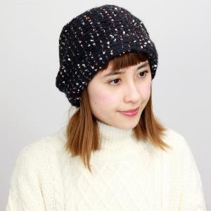 ニット リバージュ ターバン  帽子 エリートシャポー 上品 レディース 室内着用可能 ELITE CHAPEAU 黒 ブラック|elehelm-hatstore