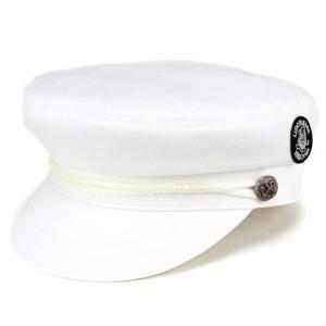 シナコバ 春夏 SINACOVA マリンキャップ 帽子 メンズ マリン サマー 鹿の子編み ホワイト|elehelm-hatstore