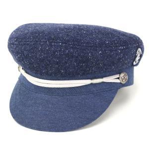 SINACOVA マリンキャップ 帽子 秋冬 メンズ シナコバ CAP マリン ニット/ネイビー|elehelm-hatstore