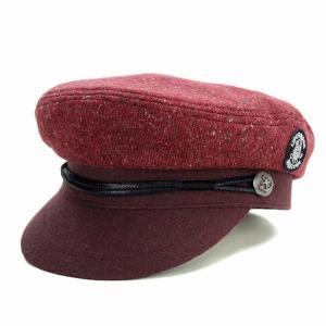 SINACOVA マリンキャップ 帽子 秋冬 メンズ シナコバ CAP マリン ニット/赤 レッド|elehelm-hatstore