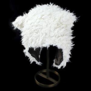 キャップ キッズ 耳付 かわいい帽子 ふわふわ クマの帽子 サンディエゴハット 子供用 あったか帽子 アイボリー|elehelm-hatstore
