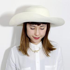 パナマ帽 レディース パナマハット 高品質 帽子 GALLIANO SORBATTI 女優帽 春 夏 ガリアーノ ソルバッティ 花 コサージュ付き ブリーチ ホワイト|elehelm-hatstore|08