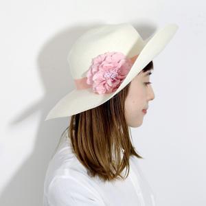 パナマ帽 レディース パナマハット 高品質 帽子 GALLIANO SORBATTI 女優帽 春 夏 ガリアーノ ソルバッティ 花 コサージュ付き ブリーチ ホワイト|elehelm-hatstore|09