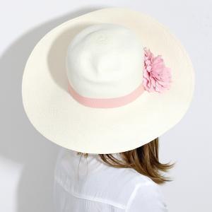 パナマ帽 レディース パナマハット 高品質 帽子 GALLIANO SORBATTI 女優帽 春 夏 ガリアーノ ソルバッティ 花 コサージュ付き ブリーチ ホワイト|elehelm-hatstore|10