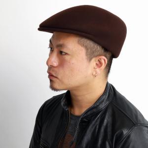 プロムナード ハンチング 帽子 メンズ 秋冬 イタリア製 ハンチング帽 レディース ウール フェルト 送料無料 GALLIANO SORBATTI /茶 ブラウン|elehelm-hatstore
