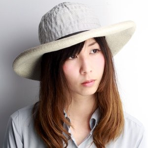 GREVI リボン ブレードハット つば広 レディース グレヴィ 帽子 春 夏 イタリア製 ハンドメイド オフホワイト|elehelm-hatstore