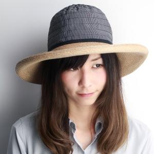つば広 GREVI リボン ブレードハット レディース グレヴィ 帽子 春 夏 イタリア製 ハンドメイド ブラック ベージュ|elehelm-hatstore