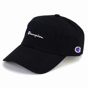 チャンピオン 帽子 キャップ メンズ レディース ローキャップ カジュアル スポーツ champion cap 黒 ブラック|elehelm-hatstore