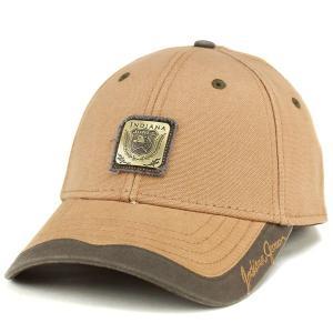 キャップ メンズ 帽子 インディ・ジョーンズ コットン 綿 ベーシックデザイン カジュアル キャメル|elehelm-hatstore
