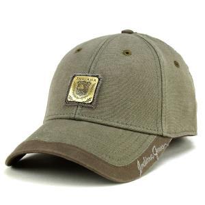 帽子 キャップ インディ・ジョーンズ コットン 綿 ベーシックデザイン カジュアル メンズ オリーブ|elehelm-hatstore