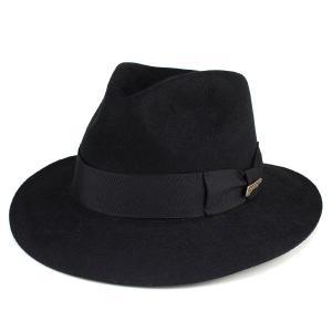 つば広 帽子 インディ・ジョーンズ ワイドブリム INDY fedora hat ファーフェルト Indiana Jones 黒 ブラック|elehelm-hatstore