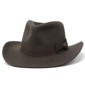 ワイドブリムハット 帽子 インディジョーンズ ウールフェルト メンズ ワイルド フェドラ 秋冬ファッション ブラウン|elehelm-hatstore