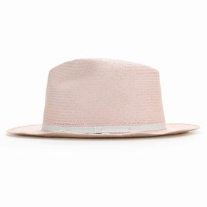 麦わら帽子 母の日 帽子 レディース 春夏 パナマ帽 ツバ広 Marea 本パナマ 父の日 パナマハット 中折れ帽 エクアドル製 メンズ 中折れハット ピンク|elehelm-hatstore|02