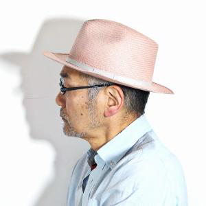 麦わら帽子 母の日 帽子 レディース 春夏 パナマ帽 ツバ広 Marea 本パナマ 父の日 パナマハット 中折れ帽 エクアドル製 メンズ 中折れハット ピンク|elehelm-hatstore|13