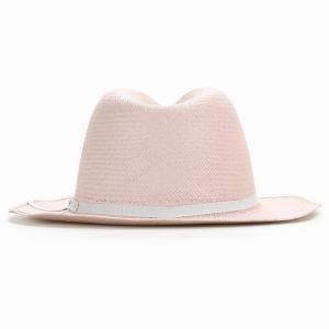 麦わら帽子 母の日 帽子 レディース 春夏 パナマ帽 ツバ広 Marea 本パナマ 父の日 パナマハット 中折れ帽 エクアドル製 メンズ 中折れハット ピンク|elehelm-hatstore|04