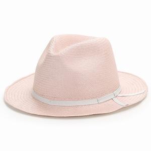 麦わら帽子 母の日 帽子 レディース 春夏 パナマ帽 ツバ広 Marea 本パナマ 父の日 パナマハット 中折れ帽 エクアドル製 メンズ 中折れハット ピンク|elehelm-hatstore|07