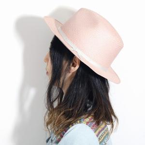 麦わら帽子 母の日 帽子 レディース 春夏 パナマ帽 ツバ広 Marea 本パナマ 父の日 パナマハット 中折れ帽 エクアドル製 メンズ 中折れハット ピンク|elehelm-hatstore|09