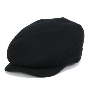 カシミヤ フランネル ハンチング メンズ 帽子 KASZKIET カシュケット インポート 黒 ブラック
